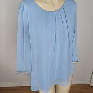 Ricki's - baby blue blouse